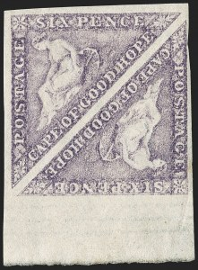 Sale Number 1194, Lot Number 2212, Cape of Good HopeCAPE OF GOOD HOPE, 1863, 6p Purple (14; SG 20), CAPE OF GOOD HOPE, 1863, 6p Purple (14; SG 20)