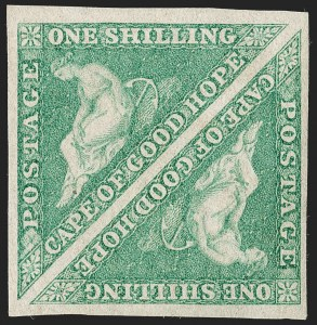 Sale Number 1194, Lot Number 2214, Cape of Good HopeCAPE OF GOOD HOPE, 1863, 1sh Emerald (15; SG 21), CAPE OF GOOD HOPE, 1863, 1sh Emerald (15; SG 21)