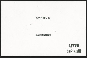 Sale Number 1194, Lot Number 2249, Cyprus thru DominicaCYPRUS, 1925, 2-1/2pi Black Duty Proof (99P; SG 122P), CYPRUS, 1925, 2-1/2pi Black Duty Proof (99P; SG 122P)