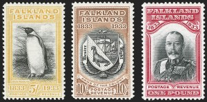 Sale Number 1194, Lot Number 2254, Falkland Islands thru GibraltarFALKLAND ISLANDS, 1933, -1/2p-£1 Tercentenary (65-76; SG 127-38), FALKLAND ISLANDS, 1933, -1/2p-£1 Tercentenary (65-76; SG 127-38)
