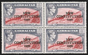 Sale Number 1194, Lot Number 2261, Falkland Islands thru GibraltarGIBRALTAR, 1950, 6p New Constitution, Double Overprint (129a; SG 142a), GIBRALTAR, 1950, 6p New Constitution, Double Overprint (129a; SG 142a)