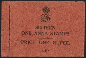 Sale Number 1194, Lot Number 2279, India & Indian StatesINDIA, 1937, Booklet of Four Panes of 1a (SG SB22), INDIA, 1937, Booklet of Four Panes of 1a (SG SB22)