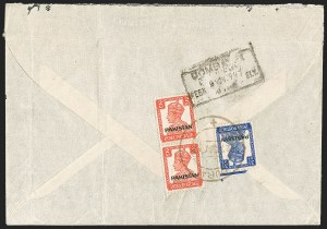 "Sale Number 1194, Lot Number 2281, India & Indian StatesINDIA, Used in Dubai, 1947, 2a Scarlet, 3-1/2a Ultramarine, ""Pakistan"" Overprint (SG 6, 8; Scott 6, 8), INDIA, Used in Dubai, 1947, 2a Scarlet, 3-1/2a Ultramarine, ""Pakistan"" Overprint (SG 6, 8; Scott 6, 8)"