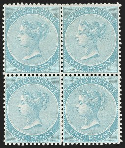 Sale Number 1194, Lot Number 2304, Ireland thru KuwaitJAMAICA, 1860, 1p Pale Blue (1c; SG 1), JAMAICA, 1860, 1p Pale Blue (1c; SG 1)