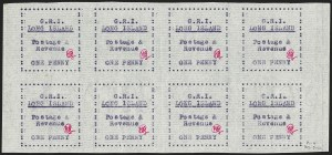 Sale Number 1194, Lot Number 2356, Long IslandLONG ISLAND, 1916, 1p Mauve on Thin Horizontally Laid Paper (SG 12), LONG ISLAND, 1916, 1p Mauve on Thin Horizontally Laid Paper (SG 12)