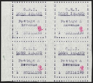 Sale Number 1194, Lot Number 2375, Long IslandLONG ISLAND, 1916, 1sh Mauve on Thin Horizontally Laid Paper (SG 22), LONG ISLAND, 1916, 1sh Mauve on Thin Horizontally Laid Paper (SG 22)
