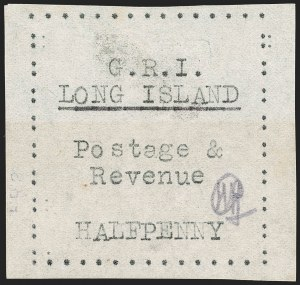Sale Number 1194, Lot Number 2380, Long IslandLONG ISLAND, 1916, -1/2p Black on Thin Wove Paper (SG 23), LONG ISLAND, 1916, -1/2p Black on Thin Wove Paper (SG 23)