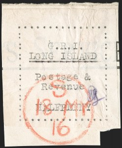 Sale Number 1194, Lot Number 2381, Long IslandLONG ISLAND, 1916, -1/2p Black on Thin Wove Paper (SG 23), LONG ISLAND, 1916, -1/2p Black on Thin Wove Paper (SG 23)