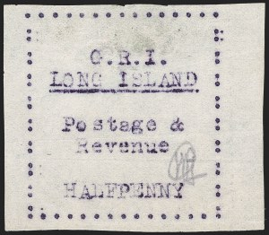 Sale Number 1194, Lot Number 2382, Long IslandLONG ISLAND, 1916, -1/2p Mauve on Thin Wove Paper (SG 25), LONG ISLAND, 1916, -1/2p Mauve on Thin Wove Paper (SG 25)