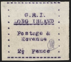 Sale Number 1194, Lot Number 2392, Long IslandLONG ISLAND, 1916, 2-1/2p Mauve on Thin Wove Paper (SG 34), LONG ISLAND, 1916, 2-1/2p Mauve on Thin Wove Paper (SG 34)