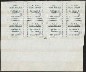 Sale Number 1194, Lot Number 2394, Long IslandLONG ISLAND, 1916, 6p Black on Thin Wove Paper (SG 35), LONG ISLAND, 1916, 6p Black on Thin Wove Paper (SG 35)