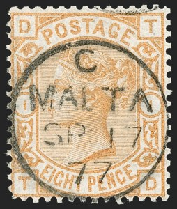 Sale Number 1194, Lot Number 2416, Malta thru MontserratMALTA, Great Britain Stamps Used in Malta (SG Z23/Z79), MALTA, Great Britain Stamps Used in Malta (SG Z23/Z79)