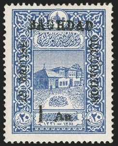 Sale Number 1194, Lot Number 2425, Malta thru MontserratMESOPOTAMIA, 1917, 1a on 20pa Ultramarine, Perf 13-1/2 (N11; SG 10a), MESOPOTAMIA, 1917, 1a on 20pa Ultramarine, Perf 13-1/2 (N11; SG 10a)