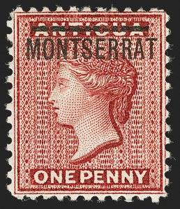 "Sale Number 1194, Lot Number 2428, Malta thru MontserratMONTSERRAT, 1884, 1p Red, Perf 12, Inverted ""S"" (11a; SG 6a), MONTSERRAT, 1884, 1p Red, Perf 12, Inverted ""S"" (11a; SG 6a)"