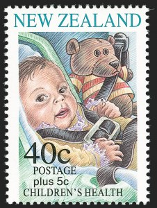 Sale Number 1194, Lot Number 2433, Nevis thru OmanNEW ZEALAND, 1996, 40c+5c Children's Health, Semi-Postal, Withdrawn Issue (B154; SG 2000a), NEW ZEALAND, 1996, 40c+5c Children's Health, Semi-Postal, Withdrawn Issue (B154; SG 2000a)