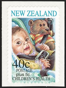 Sale Number 1194, Lot Number 2434, Nevis thru OmanNEW ZEALAND, 1996, 40c+5c Children's Health, Semi-Postal, Withdrawn Issue (B155; SG 2003a), NEW ZEALAND, 1996, 40c+5c Children's Health, Semi-Postal, Withdrawn Issue (B155; SG 2003a)