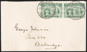Sale Number 1194, Lot Number 2445, Penrhyn Islands thru South AfricaRHODESIA, 1910, -1/2p Bluish Green, Imperforate (101c; SG 120a), RHODESIA, 1910, -1/2p Bluish Green, Imperforate (101c; SG 120a)
