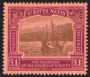 Sale Number 1194, Lot Number 2446, Penrhyn Islands thru South AfricaST. KITTS-NEVIS, 1923, -1/2p-£1 Tercentenary (52-64; SG 48-60), ST. KITTS-NEVIS, 1923, -1/2p-£1 Tercentenary (52-64; SG 48-60)