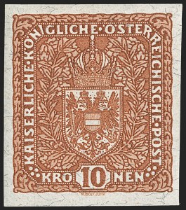 Sale Number 1194, Lot Number 2494, Andorra thru AustriaAUSTRIA, 1918, 2k-10k Air Posts, Imperforate and Without Overprint (C1-C3 Footnote; Michel 225xU-227xU, IIB), AUSTRIA, 1918, 2k-10k Air Posts, Imperforate and Without Overprint (C1-C3 Footnote; Michel 225xU-227xU, IIB)
