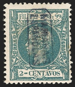 Sale Number 1194, Lot Number 2617, Liechtenstein thru Mariana IslandsMARIANA ISLANDS, 1899, 2c Dark Blue Green (1), MARIANA ISLANDS, 1899, 2c Dark Blue Green (1)