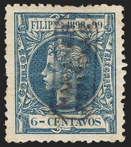 Sale Number 1194, Lot Number 2618, Liechtenstein thru Mariana IslandsMARIANA ISLANDS, 1899, 6c Dark Blue (4), MARIANA ISLANDS, 1899, 6c Dark Blue (4)
