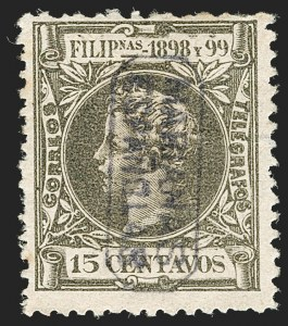 Sale Number 1194, Lot Number 2619, Liechtenstein thru Mariana IslandsMARIANA ISLANDS, 1899, 15c Dull Olive Green (6), MARIANA ISLANDS, 1899, 15c Dull Olive Green (6)