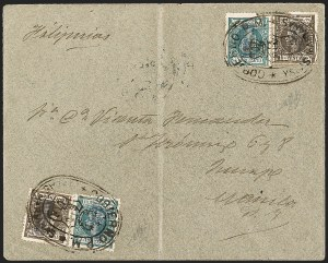 Sale Number 1194, Lot Number 2621, Liechtenstein thru Mariana IslandsMARIANA ISLANDS, 1899, 2c Dark Blue Green, 8c Gray Brown (1, 5), MARIANA ISLANDS, 1899, 2c Dark Blue Green, 8c Gray Brown (1, 5)