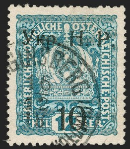 Sale Number 1194, Lot Number 2644, Switzerland thru YemenWESTERN UKRAINE, 1918, 10sot on 12h Light Blue (8; Michel 4), WESTERN UKRAINE, 1918, 10sot on 12h Light Blue (8; Michel 4)