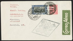 Sale Number 1194, Lot Number 2647, Worldwide Flight CoversCOLOMBIA, 1931 DO-X Flight to Germany, COLOMBIA, 1931 DO-X Flight to Germany