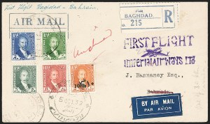 Sale Number 1194, Lot Number 2649, Worldwide Flight CoversIRAQ, 1932, Oct. 5, Baghdad-Bahrain First Flight Imperial Airways, IRAQ, 1932, Oct. 5, Baghdad-Bahrain First Flight Imperial Airways