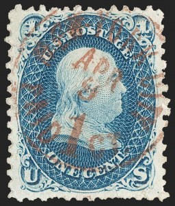 Sale Number 1195, Lot Number 109, 1861-66 Issue Stamps1c Blue (63), 1c Blue (63)