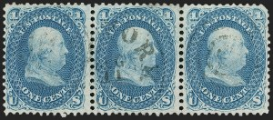Sale Number 1195, Lot Number 111, 1861-66 Issue Stamps1c Blue, Laid Paper (63c), 1c Blue, Laid Paper (63c)