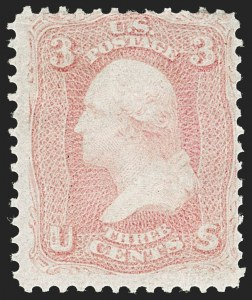 Sale Number 1195, Lot Number 112, 1861-66 Issue Stamps3c Pink (64), 3c Pink (64)