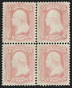 Sale Number 1195, Lot Number 113, 1861-66 Issue Stamps3c Pink (64), 3c Pink (64)