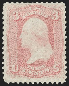 Sale Number 1195, Lot Number 114, 1861-66 Issue Stamps3c Pigeon Blood Pink (64a), 3c Pigeon Blood Pink (64a)