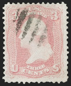 Sale Number 1195, Lot Number 115, 1861-66 Issue Stamps3c Pigeon Blood Pink (64a), 3c Pigeon Blood Pink (64a)