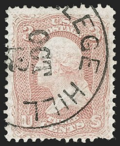 Sale Number 1195, Lot Number 120, 1861-66 Issue Stamps3c Rose, Horizontally Laid Paper (65b), 3c Rose, Horizontally Laid Paper (65b)