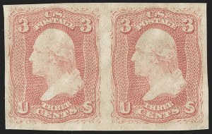 Sale Number 1195, Lot Number 122, 1861-66 Issue Stamps3c Rose, Imperforate (65c), 3c Rose, Imperforate (65c)