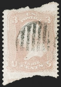 Sale Number 1195, Lot Number 124, 1861-66 Issue Stamps3c Rose, Imperforate Horizontally (65d var), 3c Rose, Imperforate Horizontally (65d var)