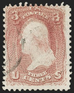 Sale Number 1195, Lot Number 126, 1861-66 Issue Stamps3c Rose, Double Impression (65f), 3c Rose, Double Impression (65f)