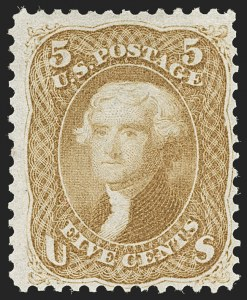 Sale Number 1195, Lot Number 129, 1861-66 Issue Stamps5c Buff (67), 5c Buff (67)