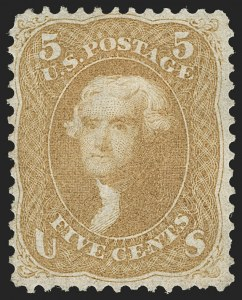 Sale Number 1195, Lot Number 130, 1861-66 Issue Stamps5c Brown Yellow (67a), 5c Brown Yellow (67a)