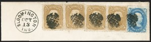 Sale Number 1195, Lot Number 133, 1861-66 Issue Stamps5c Brown Yellow (67a), 5c Brown Yellow (67a)