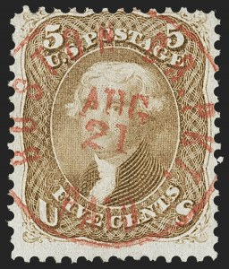 Sale Number 1195, Lot Number 134, 1861-66 Issue Stamps5c Buff, Brown Yellow (67, 67a), 5c Buff, Brown Yellow (67, 67a)