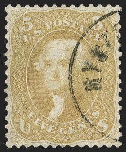 Sale Number 1195, Lot Number 136, 1861-66 Issue Stamps5c Olive Yellow (67b), 5c Olive Yellow (67b)