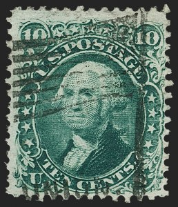 Sale Number 1195, Lot Number 138, 1861-66 Issue Stamps, cont.10c Yellow Green (68), 10c Yellow Green (68)