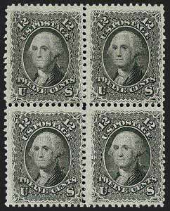 Sale Number 1195, Lot Number 140, 1861-66 Issue Stamps, cont.12c Black (69), 12c Black (69)