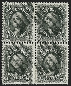 Sale Number 1195, Lot Number 141, 1861-66 Issue Stamps, cont.12c Black (69), 12c Black (69)