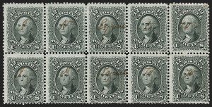 Sale Number 1195, Lot Number 142, 1861-66 Issue Stamps, cont.12c Black (69), 12c Black (69)