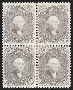 Sale Number 1195, Lot Number 143, 1861-66 Issue Stamps, cont.24c Brown Lilac (70a), 24c Brown Lilac (70a)